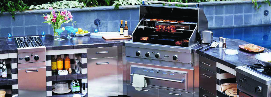 Silverado building materials viking for Viking outdoor kitchen